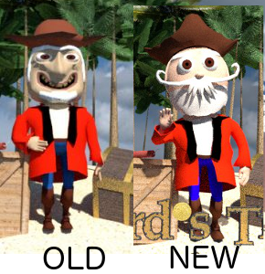 The Old Silverbeard pirate vs the New